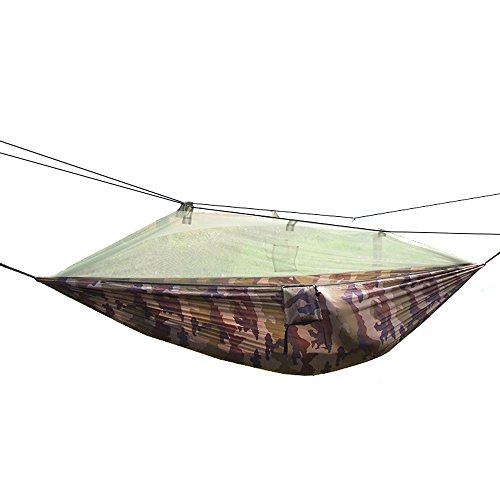 thebluestone 260x 140cm portatile ad alta resistenza in nylon Amaca Hanging letto con zanzariera per esterni e campeggio