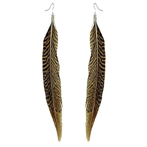 Lux Accessoires Flock Ensemble Animal Motif Birds of a Feather Boucles d'oreilles pendantes