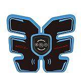 Hlidpu Muskelstimulator EMS-Ausrüstung Frau Männer Elektrische Muskelstimulation Trainer Bauch-Arm-Massagegerät USB-Ladegerät,Blue