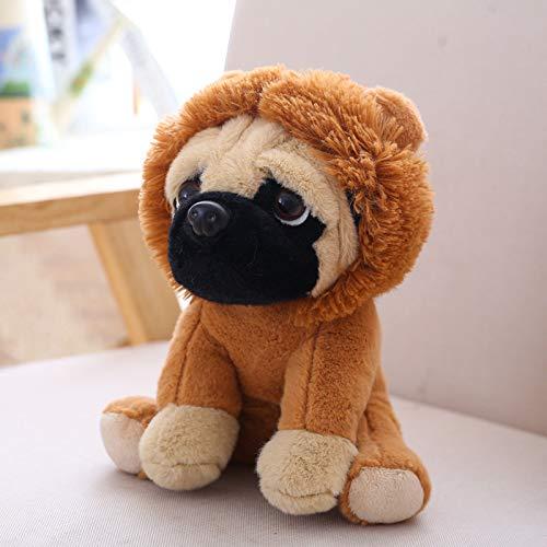 NOVELOVE Plüsch Spielzeug Simulieren Sandhund Puppe Geschenke 20cm Löwen-Kostüm (Golden Retriever Baby Kostüm)