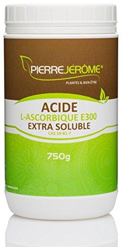 Acide L-Ascorbique EXTRA SOLUBLE E300 750 G [NOUVEAU!!!] - en poudre - pot CAS 50-81-7 - Pierre Jérôme®