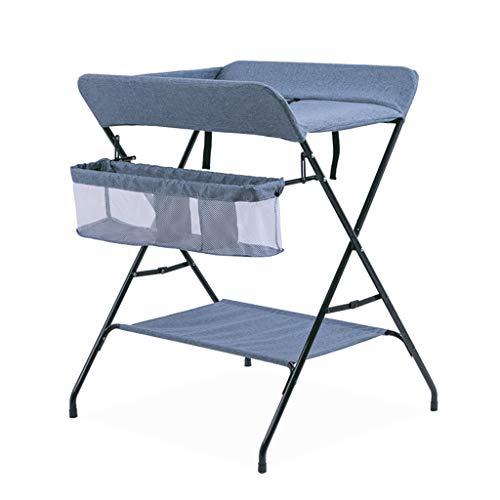 Table À Langer Unité De Rangement pour Bébé Portable Station Dresser Pieds Croisés Pliables Style-Bleu-74cm (L) X 70cm (L) X 96cm (H)