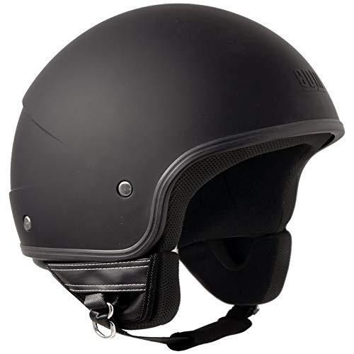 CGM 104A-FAA-01 Black Rubber (M) JET Helmet (MALINDI)