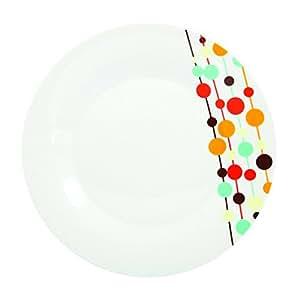 Novastyl 7154071 Lot de 6 Assiettes Bubble Pop Porcelaine Multicolore 26,4 x 29 x 2,29 cm