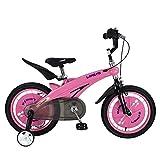 Zhangcaiyun Liegerad Kinder Jungen Gilrs Fahrrad Freestyle Kind Sport Fahrrad mit Stablizers in Größe Zoll 12,14 Alter 3+ Innen- (Farbe : Rosa, Größe : 14 inch(90-110cm))