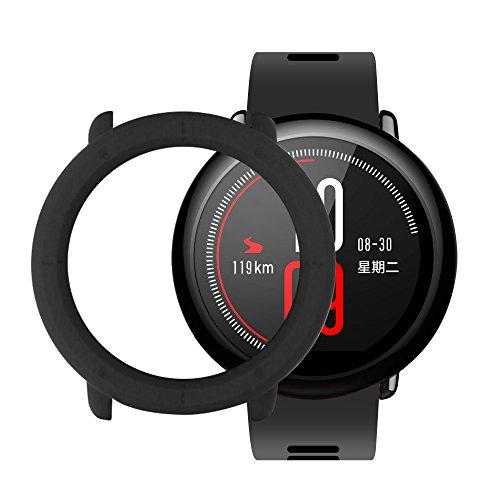 Xiaomi Huami Amazfit Pace Sport Custodia Cover SIKAI Rotondo Caso Anti-Graffio Shock-Absorption Bumper Case di Protezione Custodia protettiva per Xiaomi Huami Smartwatch (Nero)