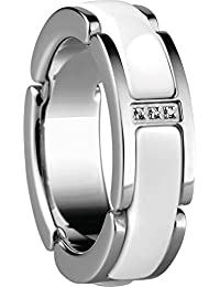 Bering Damen-Ring Link Edelstahl Zirkonia weiß - 502-15
