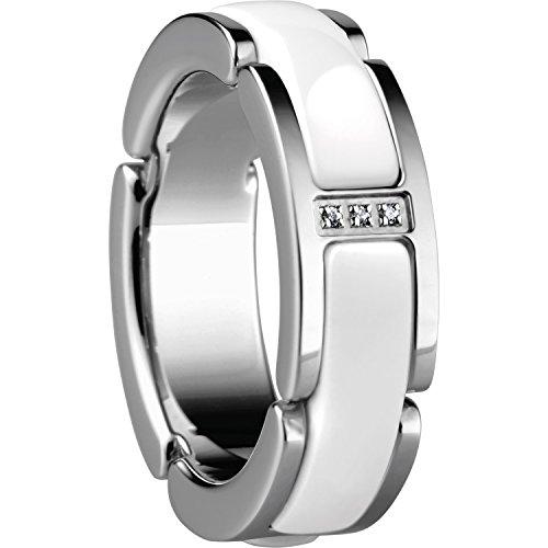Bering Damen-Ring Link Edelstahl Zirkonia weiß Gr. 62 (19.7) - 502-15-105
