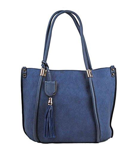 Hautefordiva , Damen Tote-Tasche blau L blau