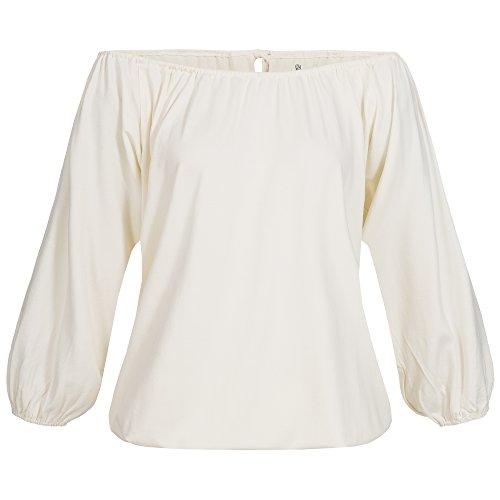 Lilikoi Damen Yoga lifestyle Sport 3/4 tel Angel Shirt Bambus Elfenbein,one size (Stretch-rayon Spandex)