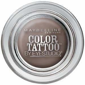 Maybelline Ombres à paupières Color Tattoo - Texture gel crème pour une couleur intense de longue durée - Coloris Tough As Taupe (Lot de 2)