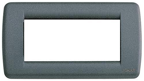 VIMAR SERIE IDEA-Metallplatte Rondo 4Modul Tafel