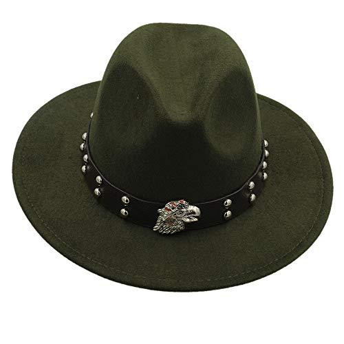 MTX-Sonnenhüte Hut, Wolle Fedoras Hüte für Frauen und männliche solide breiter Krempe Vintage Jazz Caps beiläufige weiche Kaschmir Fedora Cap weiblich