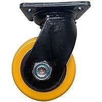 Zixin Rueda 6 Pulgadas Rueda Alta Carga de la Rueda Super Resistente núcleo de plástico de Poliuretano máquina de Colada de 8 Pulgadas (Color : D)