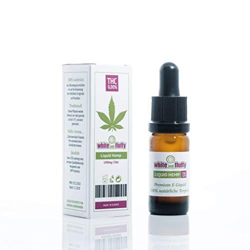 White and Fluffy® 1000mg CBD Liquid •PUR HEMP• Test-Note 1,4 • PG VG 10ml• PURER Cannabis