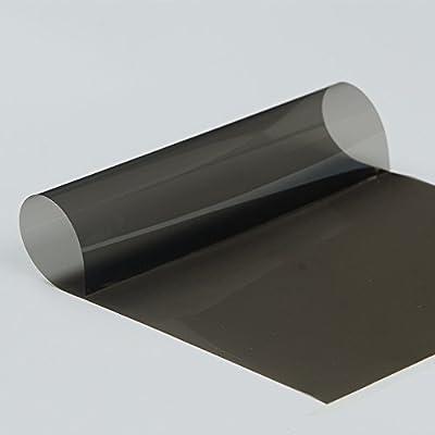 Hoho VLT 35% 4mil Noir Nano en céramique film solaire teinté pour fenêtre de confidentialité en verre pour voiture, Résidentielles 50,8x 152,4cm