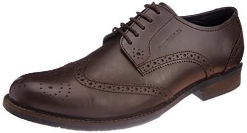 Gas Men's Brogan Leather Boat Shoes
