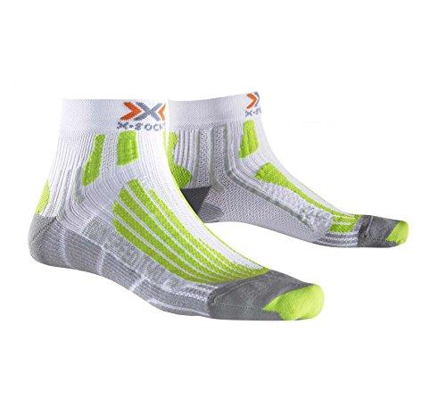 X-Socks Herren Socken RUN SPEED TWO, White/Green Lime, 42/44, X020432