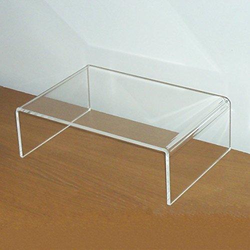 Prodest / Monitor Ständer Erhöhung / Bildschirm Standfuß / TV Bank Aufsatz aus Acrylglas - Transparent 30 cm x 20 cm x 10 cm