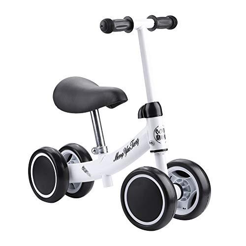 Estink Kinderlaufrad, Kinder Baby Laufräder 4 Rädern Lauflernrad Balance Bike mit Robustes Laufrad für 1-2 Jahre Altes Kinder (Weiß)