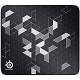 SteelSeries QcK+ Limited Gaming-Mauspad (450 x 400 mm, Langlebige Nähte, Stoff) schwarz