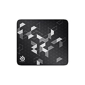 SteelSeries QcK+ Limited – Gaming-Mauspad – 450mm x 400mm x 2mm – Langlebige Nähte – Stoff – Schwarz