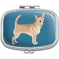 Pillendose mit Chihuahua-Motiv, rechteckig, in Geschenkbox preisvergleich bei billige-tabletten.eu