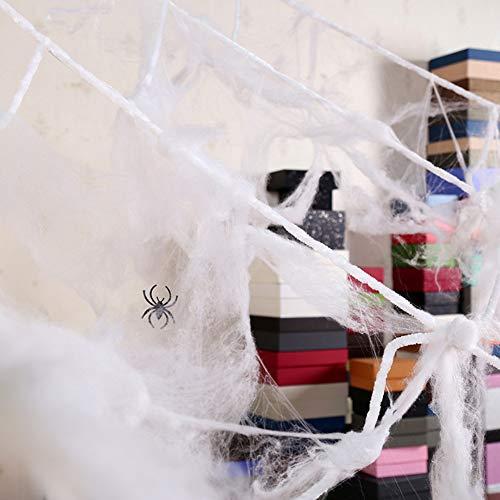 Balight Halloween Scary Party Szene Requisiten Weiß Stretchy Cobweb Spinnennetz Horror Halloween Dekoration Für Bar Haunted House
