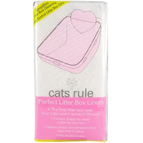 Cats Rule Perfect Litter Box Liners, 10 Pack by Cats Rule (English Manual)