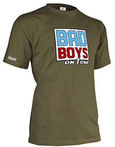 BAD BOYS ON TOUR - JGA - HERREN - T-SHIRT in Army by Jayess Gr. XXL