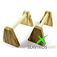 X-Parts Parallettes Holz Liegestützgriffe Handstandgriffe Stabil Buchsholz Handstand Calisthenics Slavikosway
