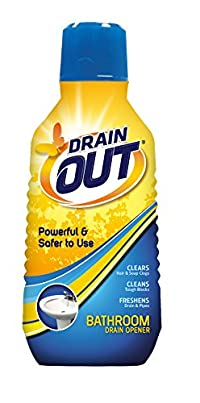 DrainOut DOB06N Bathroom Drain Opener-16 Fluid Ounces-Specially Formulated to Clear Hair and Soap Clogs in Sinks and Tubs-Septic Safe