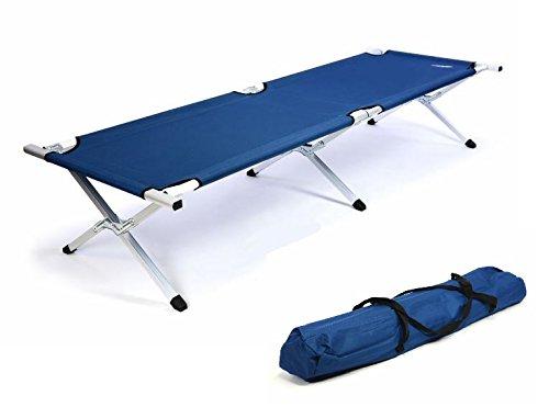 Divero Aluminium Lit de camp 210 X 74 cm Couchage Bleu Lit d/'appoint Lit De Camping