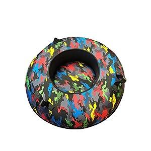 BFQY FH Snow Tube-, Gummi- Und Kunststoff-Skiring Dicker Verschleißfester Doppelkälte-resistenter Durchmesser 100cm Skiring, Multi-Color-Auswahl