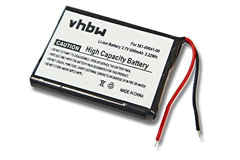 vhbw Akku 600mAh (3.7V) für Navigations System Garmin ForeRunner 310 XT, 310XT wie 361-00041-00. (Garmin 310 Xt)