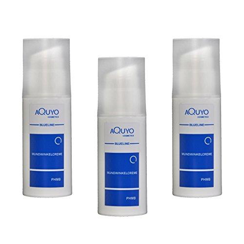 Blueline Mundwinkel Creme für trockene, entzündete oder eingerissene Mundwinkel und Lippen, Lippenpflege bei Herpes, Lippenbläschen oder Akne (3er Pack - 3x 100ml)