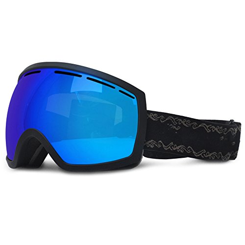 LYLhmj Skibrille, Outdoor-Sport Snowboard-Schutzbrillen mit Anti-Nebel UV-Schutz Austauschbare sphärische rahmenlose Linse, winddicht Ski-Schutzbrillen für Motorrad Fahrrad Skifahren Skaten