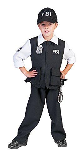 FBI Agent Kostüm Polizist für Jungen Gr. 152 (Fbi Agent Kostüm Weste)