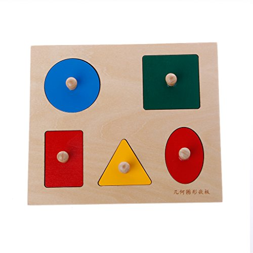 Xuniu Kids Early Learning Toy, Montessori Shapes Clasificación Puzzle Tablero de geometría...