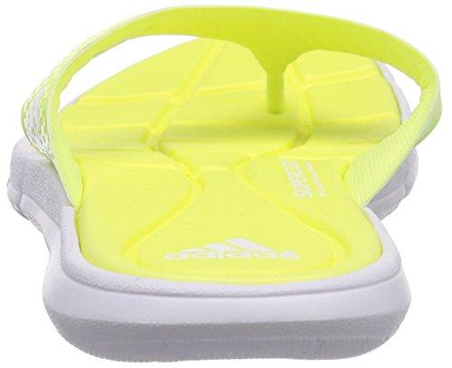 Adidas Adipure 360 Thong, Piscine Et Plage Adulte Mixte Jaune (White/Light Flash Yellow S15/Semi Solar Yellow)