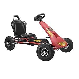 Ferbedo Air Racer Pneumatic Tyres Go Kart (Red)