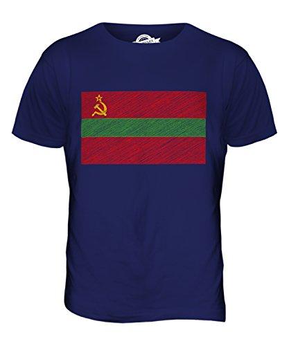 CandyMix Transnistria Bandiera Scarabocchio T-Shirt da Uomo Maglietta Blu Navy