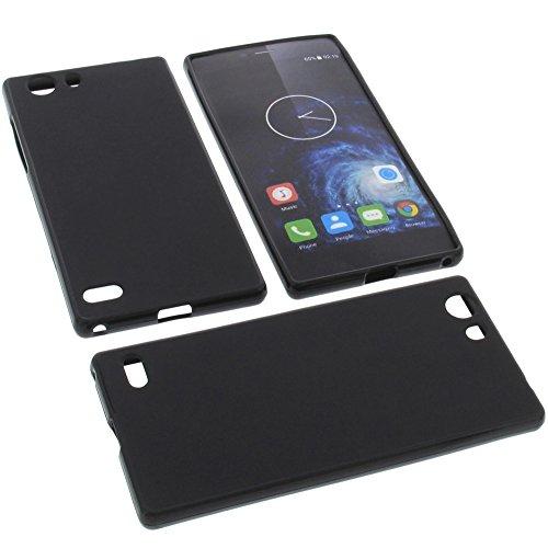 foto-kontor Tasche für Elephone S2 Gummi TPU Schutz Handytasche schwarz