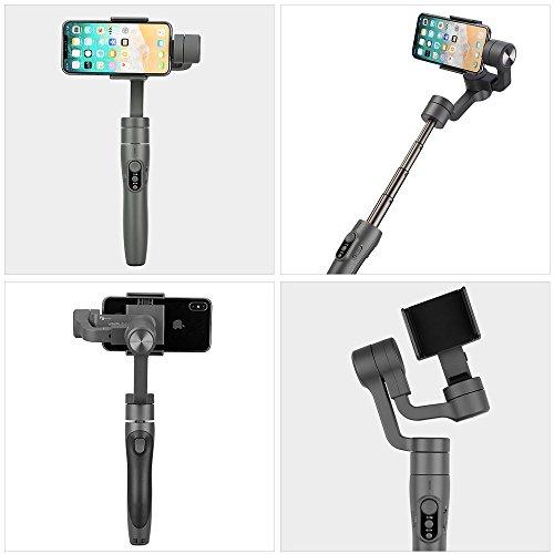 """FeiyuTech Vimble 2 3-Achsen Handy Gimbal Stabilisator MAX 7.2""""Versenkbar, Auslöser und Zoom-Taste, Auslösetaste für Schnelleinstellung, Gesicht und Objektverfolgung"""