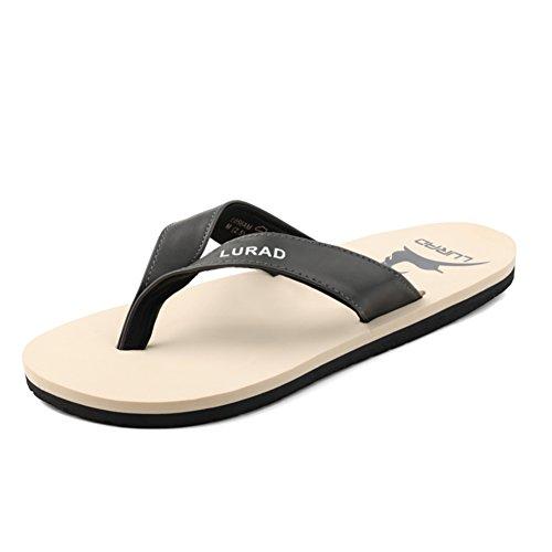 Mens tongs/Anti-pincement coulissant tendance avec des sandales en été/Europe et pantoufles A