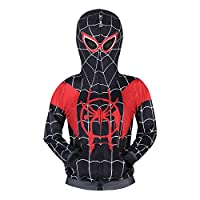 Boys Spiderman Hoodie Cosplay Costume Zipper Sweater Tracksuit Coat Pant Gifts for Kids