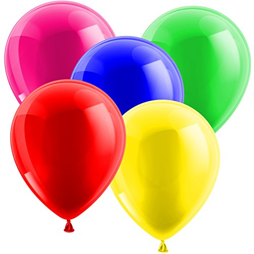 Ballons Luftballons Glänzend Bunt Gummiballons Latexballons Ø 30cm - geeignet für die Befüllung mit Luft oder Helium - Freie Stückwahl - glänzende Ballons sind auf jedem Geburtstag der Hingucker! - Europäische Premium Qualität! (Bunt 10 Stück)