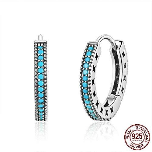 ZHWM Ohrringe Ohrstecker Ohrhänger 925 Sterling Silber Böhmen Stil Creolen Für Frauen Jubiläum Zarte Einfache Schmuck Geschenk