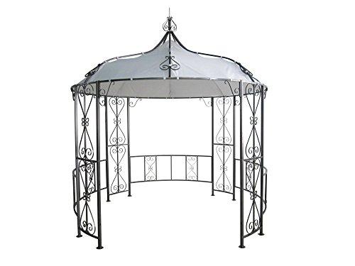 DEGAMO Pavillon Burma 300cm rund, Stahlgestell + Dach wasserdicht Weiss