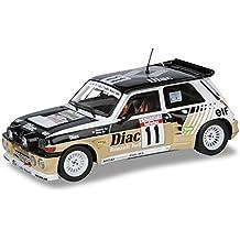 Dickie-Schuco 421180230 Solido - Maqueta de coche de carreras Renault Maxi Turbo 1985 (escala 1:18, rueda libre), color marrón y negro